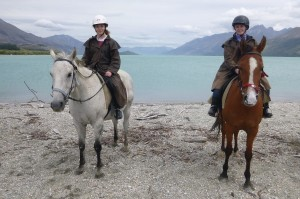 Riding on Danny and Baxter at Glenorchy