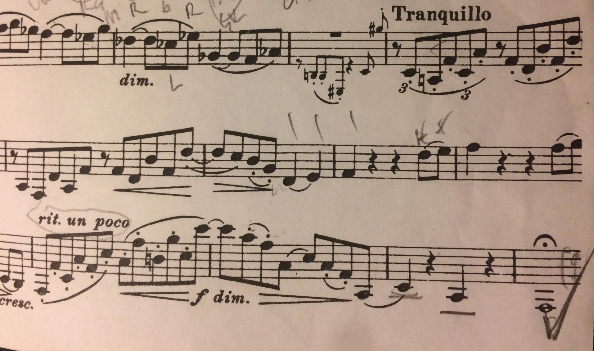 Tick at the end of the first movement of Brahms Sonata